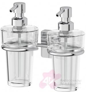 Держатель двух дозаторов Ellux Avantgarde AVA 007 жидкого мыла хром