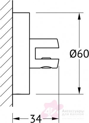 Держатели полки Ellux Elegance ELE 033 комплект (2 штуки хром
