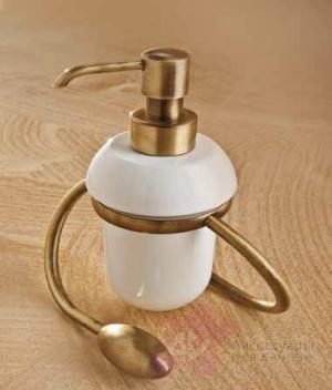 Дозатор мыла Etruska Retro 1177/D/55/CER настольный золото/керамика