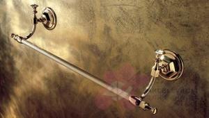 Полотенцедержатель Etruska Diamond 1708/55 одинарный 40 см золото