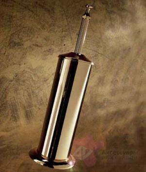 Ерш для туалета Etruska Diamond 1716/55 напольный золото/ Swarovski