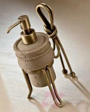 Дозатор мыла Etruska Nodo 1857/D/63/TRA настольный бронза / травертино