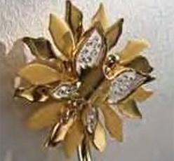 Держатель Etruska Papillon  4750/55/PERLA для стакана золото / белый