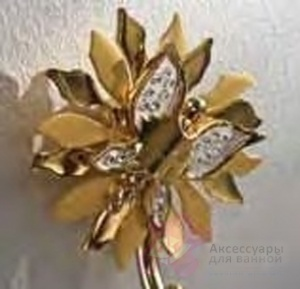Крючок Etruska Papillon 4755/55/PERLA одинарный золото / белый