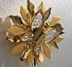 Полотенцедержатель Etruska Papillon 4758/55/PERLA одинарный 46,5 см золото/белый