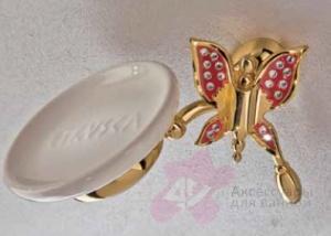 Мыльница Etruska Icaro 4802/55/PERLA/CER подвесная золото/белый/керамика