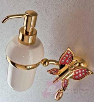 Дозатор мыла Etruska Icaro 4802/D/55/PERLA/CER подвесной золото/белый/керамика
