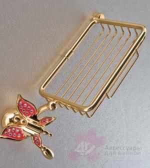 Мыльница Etruska Icaro 4803/55/PERLA решетка золото/белый