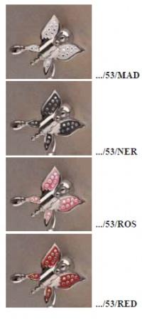 Крючок Etruska Icaro  4805/53/PERLA одинарный хром/белый