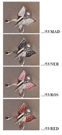 Стакан Etruska Icaro 4806/53/RED/CER настольный хром/красный/керамика