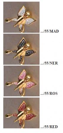 Полотенцедержатель Etruska Icaro 4808/55/PERLA одинарный 40 см золото/белый
