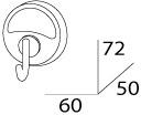 Крючок FBS Ellea ELL 001 одинарный хром