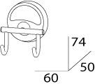 Крючок FBS Ellea ELL 002 двойной хром