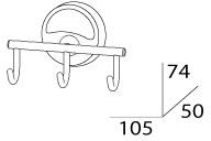 Крючок FBS Ellea ELL 003 тройной хром