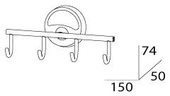 Крючок FBS Ellea ELL 004 четверной хром