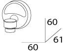 Мыльница FBS Ellea ELL 005 подвесная магнитная цвет хром