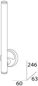 Бумагодержатель FBS Ellea ELL 021 для дополнительного рулона хром