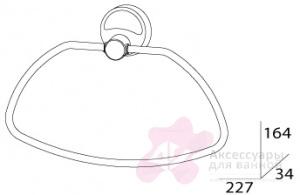 Полотенцедержатель FBS Ellea ELL 022 кольцо цвет хром