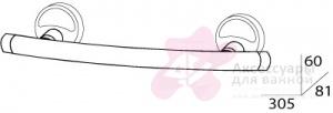 Полотенцедержатель FBS Ellea ELL 029 одинарный длина 30 см цвет хром