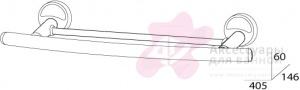 Полотенцедержатель FBS Ellea ELL 035 двойной длина 40 см цвет хром
