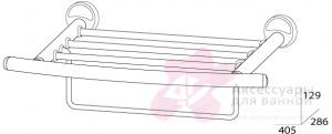 Полотенцедержатель FBS Ellea ELL 040 полка с нижним держателем длина 40 см цвет хром