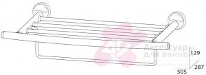 Полотенцедержатель FBS Ellea ELL 041 полка с нижним держателем длина 50 см цвет хром