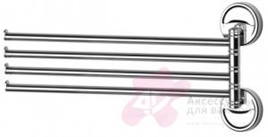 Полотенцедержатель FBS Ellea ELL 046 четверной поворотный длина 37,1 см цвет хром