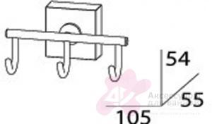 Крючок FBS Esperado ESP 003 тройной хром