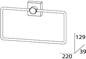 Полотенцедержатель FBS Esperado ESP 022 кольцо цвет хром