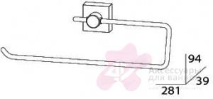 Полотенцедержатель FBS Esperado ESP 023 кольцо цвет хром