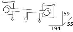 Крючок FBS Esperado ESP 024 на планке (3 шт хром