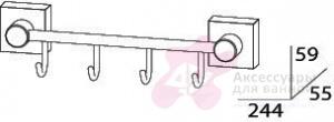 Крючок FBS Esperado ESP 025 на планке (4 шт хром
