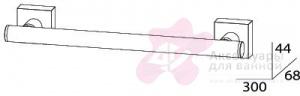 Полотенцедержатель FBS Esperado ESP 029 одинарный длина 30 см цвет хром