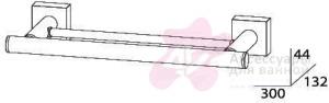 Полотенцедержатель FBS Esperado ESP 034 двойной длина 30 см цвет хром