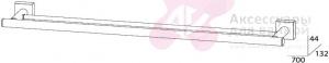 Полотенцедержатель FBS Esperado ESP 038 двойной длина 70 см цвет хром