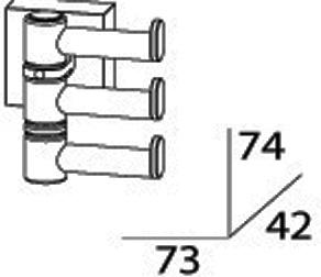 Полотенцедержатель FBS Esperado ESP 047 тройной поворотный длина 7,3 см цвет хром