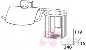 Бумагодержатель FBS Esperado ESP 053 с держателем освежителя воздуха (справа хром