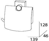 Бумагодержатель FBS Esperado ESP 055 с крышкой хром