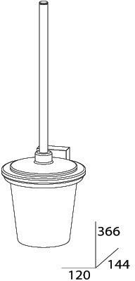 Ерш FBS Esperado ESP 057 для туалета подвесной хром / стекло матированное