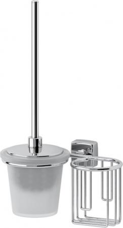 Ерш FBS Esperado ESP 058 для туалета подвесной с держателем освежителя воздуха (справа хром / стекло матированное