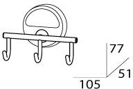 Крючок FBS Luxia LUX 003 тройной хром