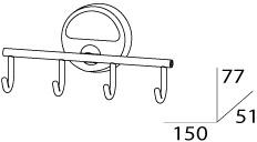 Крючок FBS Luxia  LUX 004 четверной хром