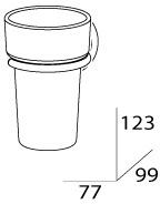 Стакан FBS Luxia LUX 006 подвесной хром /хрусталь матовый