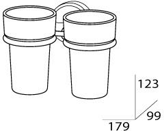 Стакан FBS Luxia LUX 007 подвесной двойной хром /хрусталь матовый
