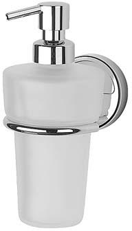 Дозатор FBS Luxia LUX 009 для жидкого мыла подвесной хром / хрусталь матовый