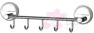 Крючок FBS Luxia LUX 026 на планке (5 шт хром