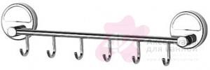 Крючок FBS Luxia LUX 027 на планке (6 шт хром
