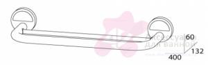 Полотенцедержатель FBS Luxia LUX 035 двойной длина 40 см цвет хром