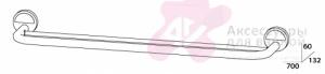 Полотенцедержатель FBS Luxia LUX 038 двойной длина 70 см цвет хром