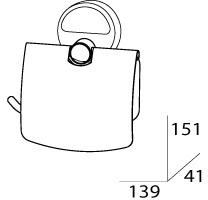 Бумагодержатель FBS Luxia LUX 055 с крышкой хром